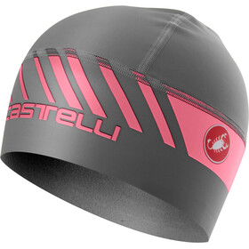 Castelli Arrivo 3 Thermo Skully Hat dark gray/giro pink